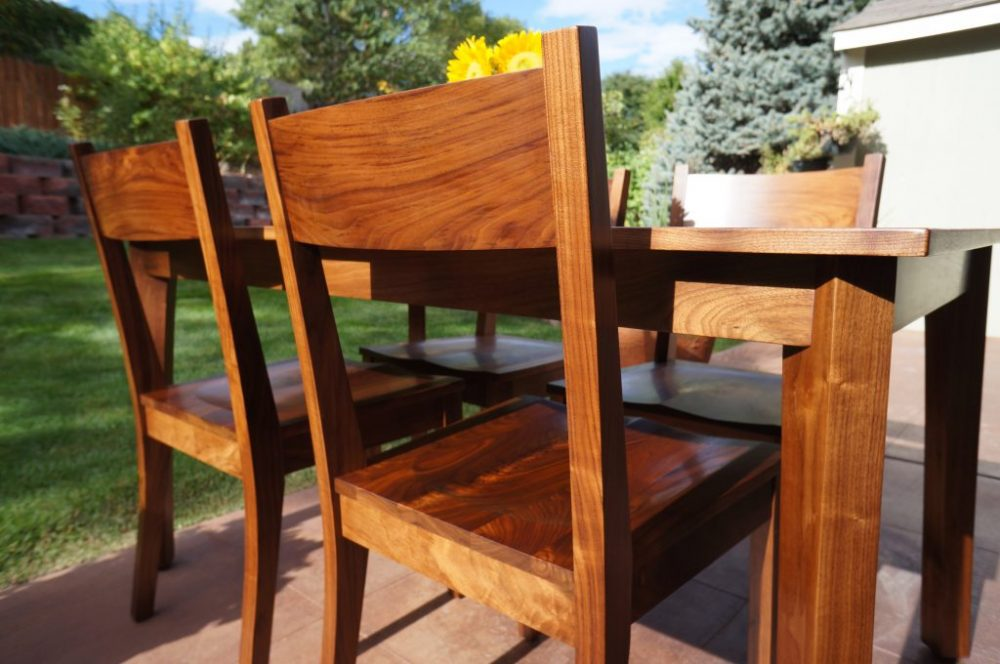 Danish modern dining set made with walnut