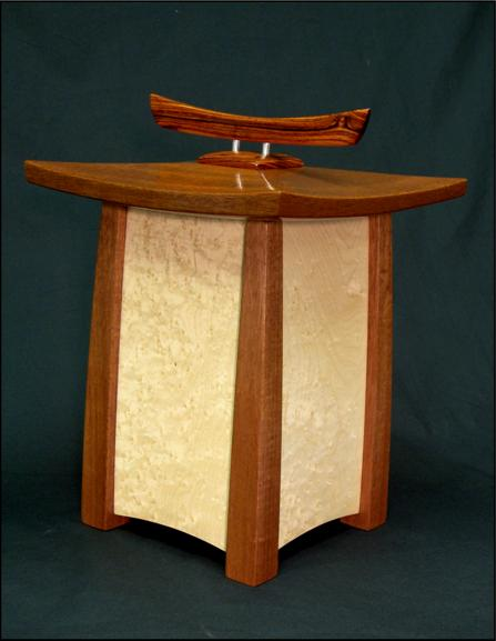 Asian style cremation urn