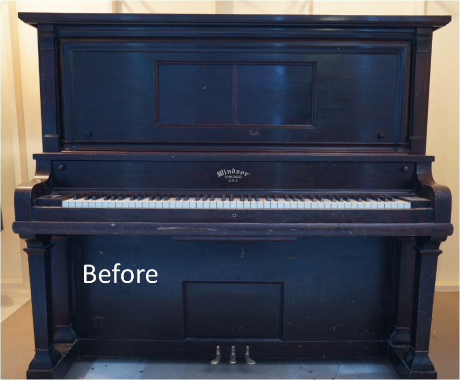 Piano Restoration Before