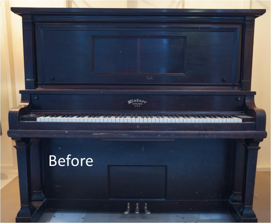 Piano Restoration Before