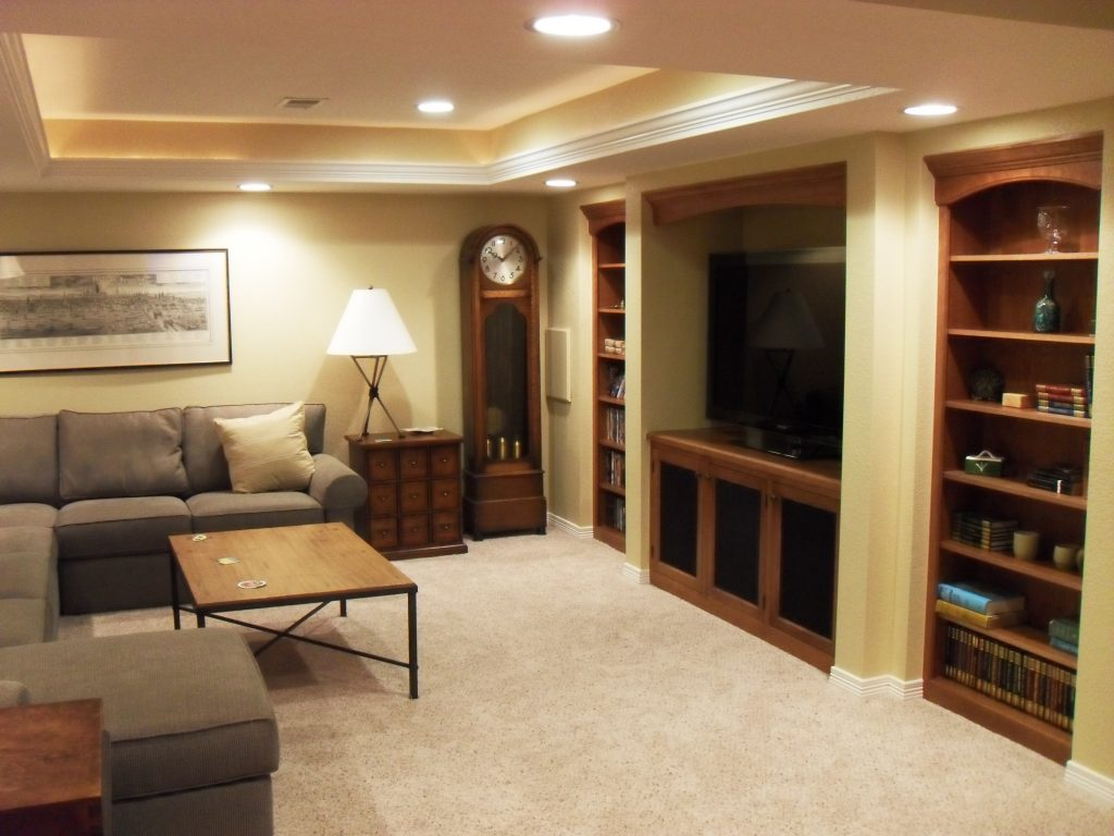 Built In Bookshelves And Media Cabinets