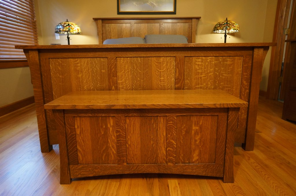 Stickley Style Blanket Chest Made With Quarter Sawn White Oak